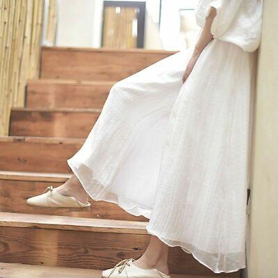 Women Faux Linen Wide Leg Pants Long Ethnic Vintage Palazzo Trouser Dance Yoga - Leg Dance Pants
