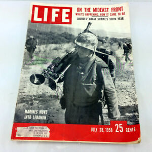 Vintage Life Magazine July 28 1958 Marines Move Into Lebanon
