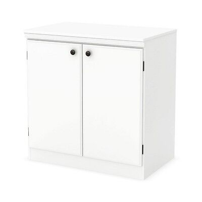 South Shore Morgan 2 Door Storage Cabinet  Pure White