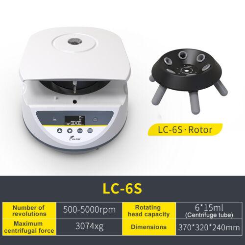 Lab PRP Benchtop Centrifuge Machine,6*15ml Tube,Digital Display,500-5000 r/min
