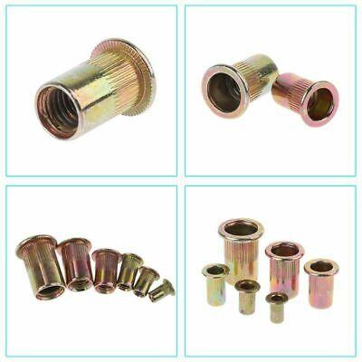 100 Steel Flange Nutserts Rivet Nut Rivnut Nutsert 10-24 14-20 10-32 6-32 8-32