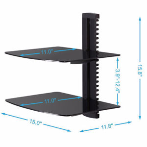 Wall Mount AV DVD Cable box, Game Console, Component Shelving Sy