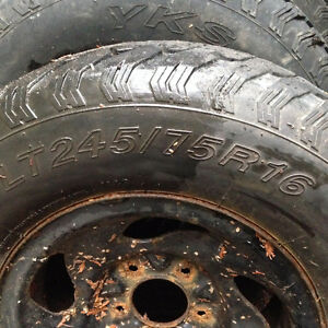 LT Mud & Snow Tires with Steel Rims North Shore Greater Vancouver Area image 1