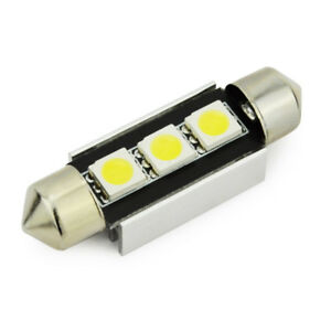 FESTOON 36mm/39mm/42mm LED 5050 3SMD BULBS CANBUS WHITE