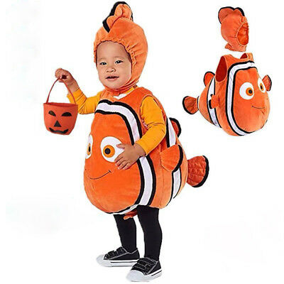 Toddler Clown Fish Costume Nemo Child Fish Fancy Dress Costume Outfit And Hat - Clown Toddler Costume