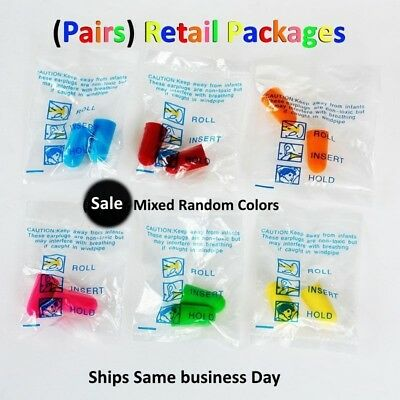 Ear Plugs Lot Bulk Soft Foam Sleep Travel Noise Canceling Earplugs Mixed Color
