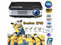 NEW,,Z720,EXCELVAN,Native Resolution: 1280,768,,3300 Lumens HD 1080P LED Projector