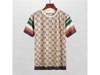 GUCCI Tan Gg Jacquard Crewneck T-shirt - SMALL, MEDIUM, LARGE - with tags