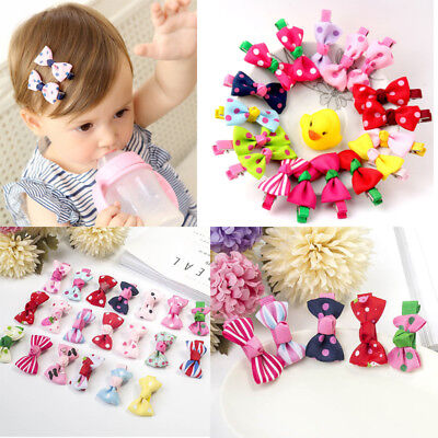10Pcs Hot Lovely Toddler Girl Hair Clip Ribbon Bow Baby Kids Bowknot Headband - Hot Girl Kids