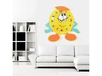 33cm Larcge Free Standing Emoji Wall Clock Emotion Kid school Room Bedroom Watch