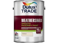 Dulux Trade Weathershield Smooth Masonry Paint - 7.5L Pure Brilliant White or Magnolia