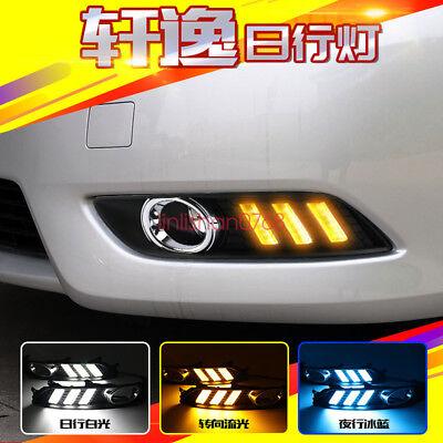 2x LED Fog Light Lamp Daytime Running Light Set For Nissan Sylphy Sentra 2012 15