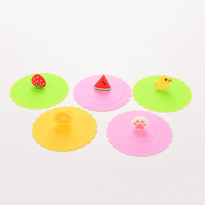 Cup Lids (1X New Silicon Anti-dust Mug Cap Cup Lid Leakproof Cover Multicolor)