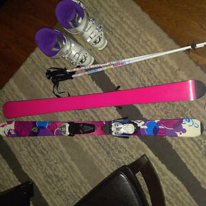 K2 Skiis Boot & Poles ~  girls youth