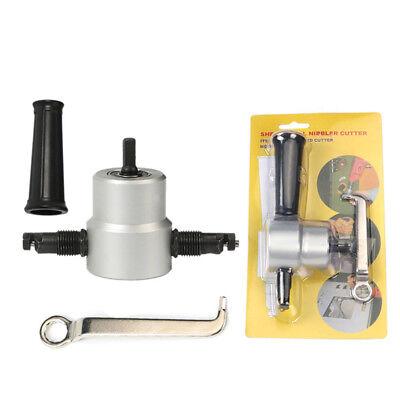 Durable Metal Cutting 360° Double Head Sheet Nibbler Saw Cutter Drill TOOL Bits