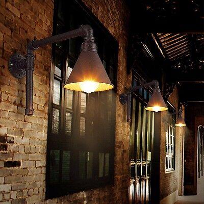 Vintage Industriale Retro Loft Tubo dell'acqua Muro Lampada da Parete Corridoio