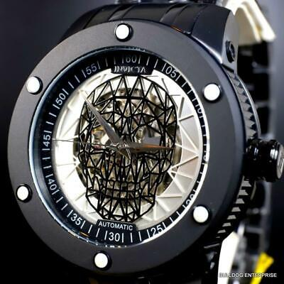 Invicta Speedway Skull Sketonized Black Stainless Steel Automatic 51mm New