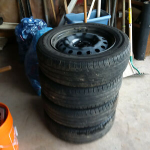 4 Tires with rims P185/65R15