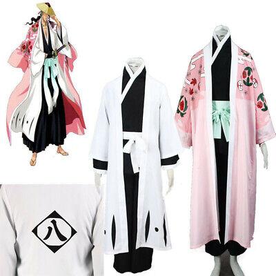 Anime Bleach Kyoraku Shunsui Kimino Cosplay Kostüm Mantel Ganzes Kostüm (Bleach Cosplay Kostüm)