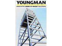 Brand new Youngman scaffolding tower 'BOSS Solo 700' One-Man Alloy Tower 5.2m