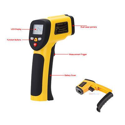 Digital Infrared Temperature Gun Sensor Tester Heat Laser IR Thermometer -