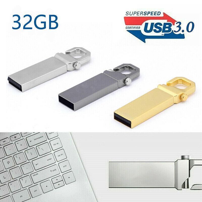 Metal USB 3.0 Flash Drive Memory Stick Pen U Disk Swivel Key