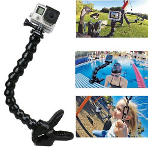 Jaw Clamp + Goose Neck for Gopro Hero 5 Hero 6 Hero 7 etc.