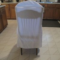12 White Chair Covers for Rent - $25