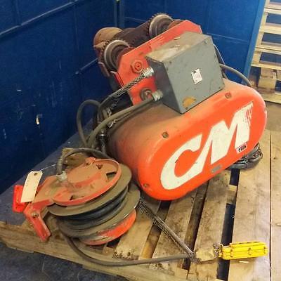 Cm Columbus Mckinnon 5hp 248fpm 2-ton Electric Hoist 7004e W Reelite Rl154l