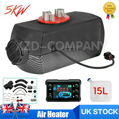 12V 5KW Diesel Air Night fuel Heater LCD Remote for Car Truck boats +15L Tanks