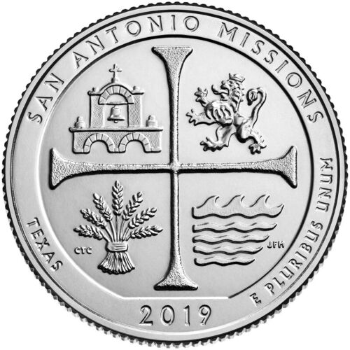 2019 P SAN ANTONIO MISSIONS TEXAS NATIONAL PARK QUARTER - BU - ATB