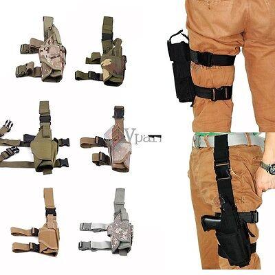 Adjustable Tactical Army Gun Revolver Drop Leg Thigh Holster Pouch Holder Colors Drop Leg Thigh Holster