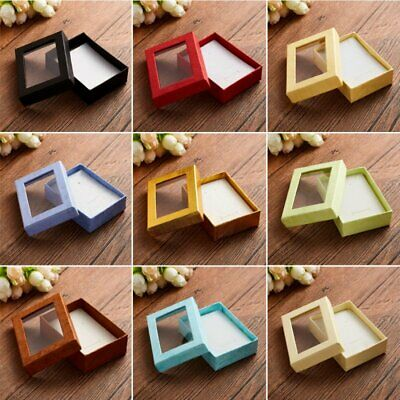 Square Cotton Filled Color Gift Boxes Jewelry Cardboard Box For Earring (Cotton Boxes Gift Necklace Jewelry)