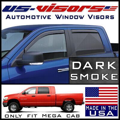 US-Visors 2006-2008 Dodge Ram 1500 Mega Cab Window Vent Visors In-Channel 4-pc