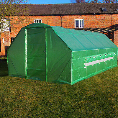6m x 3m Polytunnel Galvanised Greenhouse Poly Tunnel Pollytunnel Grow Tunnel 6m