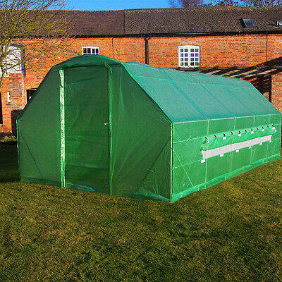 6 x 3m Polytunnel Galvanised Greenhouse Poly Tunnel Pollytunnel Grow Tunnel