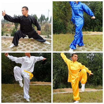 Mens Chinese Kung Fu Suit Tai Chi Wing Chun Martial Arts Costume Outfit Garments (Martial Arts Costumes)