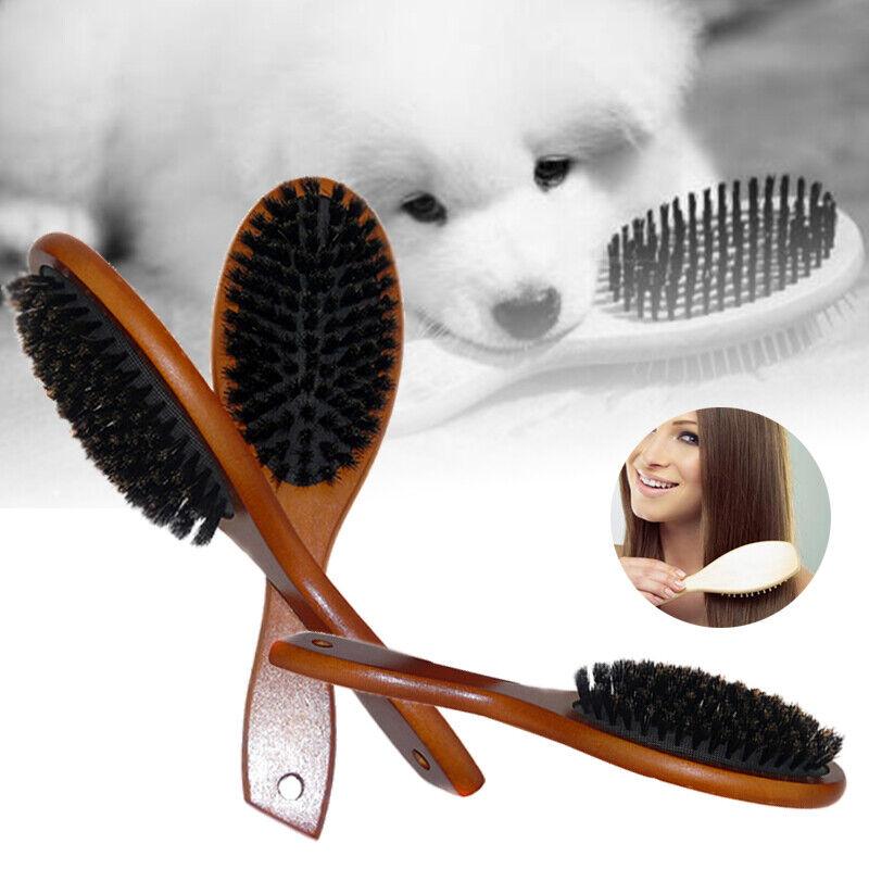 Boar Bristle Hair Brush Comb Women Men Hair Beard Soft Head