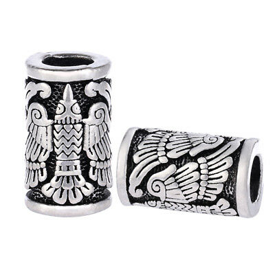 Cool Paracord Bead Norse Viking Raven for EDC Projects Bracelet Charms Outdoor
