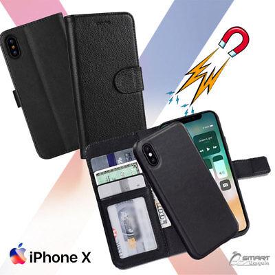 Magnetic Detachable Flip Card Wallet Case Cover For iPhone X iPhone Xs 10s Max Magnetic Wallet Case
