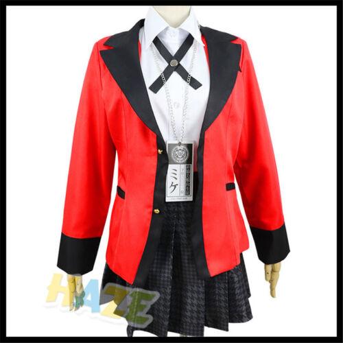 Jugador kakegurui Yumeko jabami Mary Saotome Juegos con disfraces Disfraz Uniforme