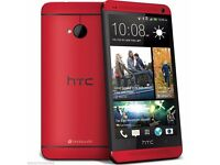 New Factory Unlocked HTC One M7 Blue/Red 32GB Android Phone