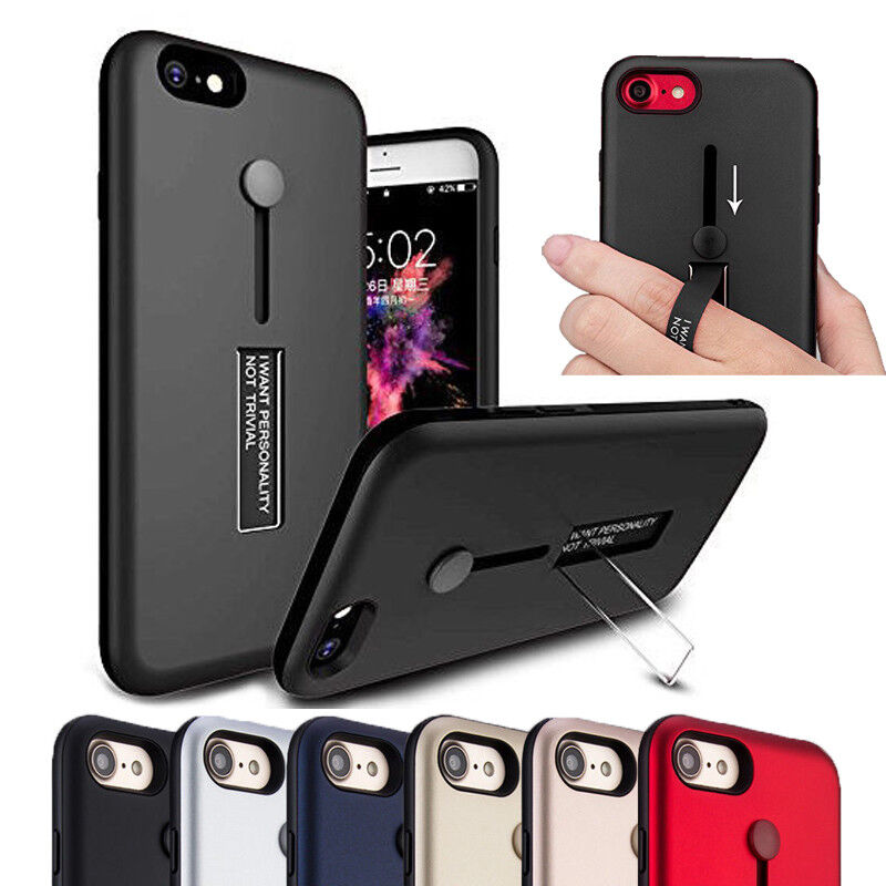 Купить Mosafe - Ring Stand Case For iPhone 8 7 6 6S  8/7/6 Plus Shockproof Slim Hard Apple Cover
