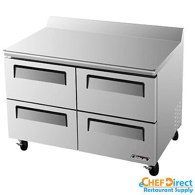 Turbo Air Twf-48sd-d4-n Super Deluxe 48 Four Drawer Worktop Freezer