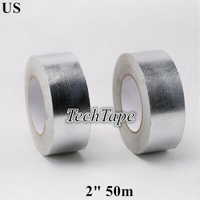 Aluminum Foil Tape 2 50m Reinforced Fiberglass Heat Shield Fire Waterproof Us