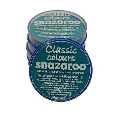 SNAZAROO MEERESBLAU MAKE-UP 18ML, GESICHT MALEN, MAKE-UP, HALLOWEEN #DE ()