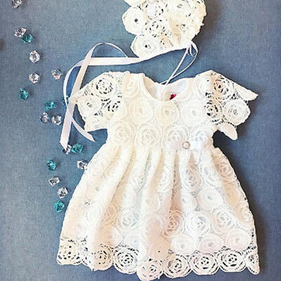 US Newborn Baby Girl Lace Tutu Short Sleeve Dress Party Wedding Princess Dresses - Tutu Dresses Girls