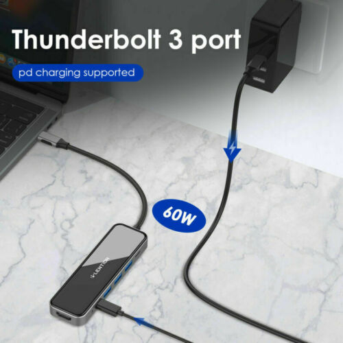 LENTION USB C Hub Type C 3.1 to HDMI USB 3.0 PD Charger Adapter for MacBook Pro