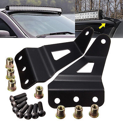 Windshield 50  52  Light Bar Mounting Bracket For Chevrolet Silverado Gmc Sierra