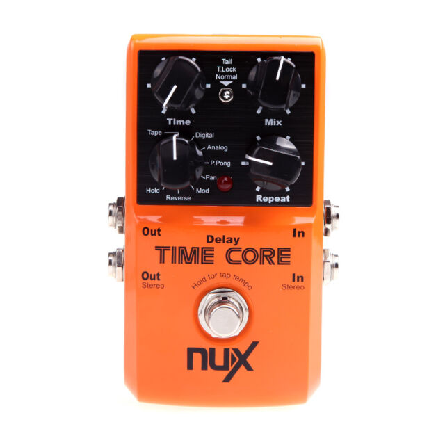 NUX Time Core Guitar Effect Pedal High Quality 7 Delay Models True Bypass NEW
